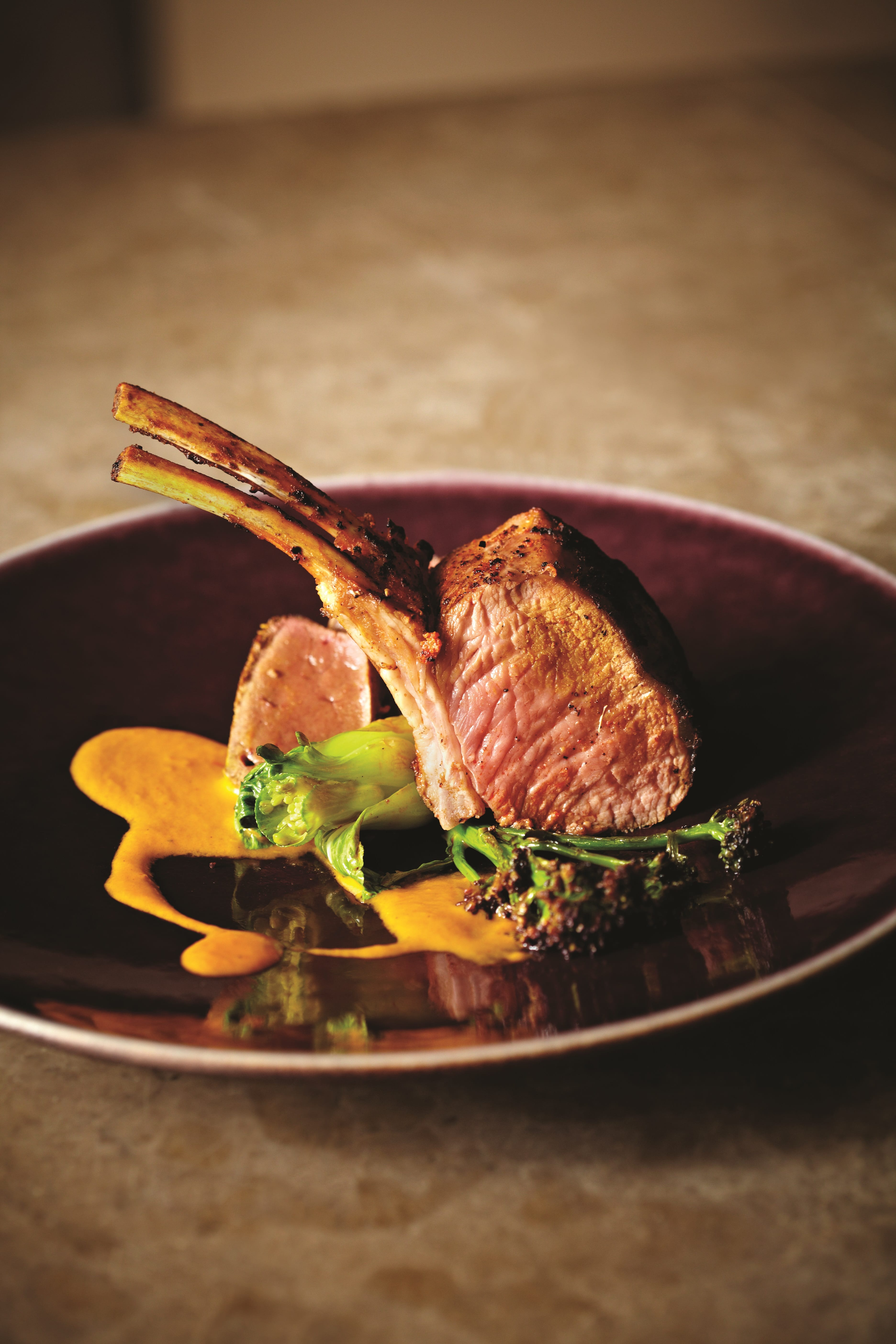 Roast Rack of Lamb with Saffron Sauce_8823-min
